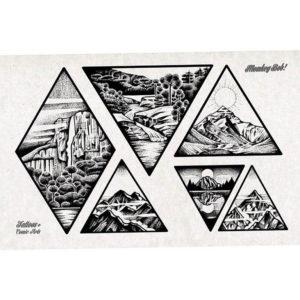 Фото тату горы в треугольнике 23.07.2019 №038 - mountain triangle tattoo - tattoo-photo.ru