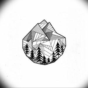 Фото тату горы геометрия 23.07.2019 №035 - mountain tattoo geometry - tattoo-photo.ru