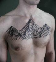 Фото тату горы мужские 23.07.2019 №003 — men's mountains tattoo — tattoo-photo.ru