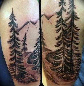Фото тату горы мужские 23.07.2019 №042 - men's mountains tattoo - tattoo-photo.ru