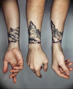 Фото тату горы на предплечье 23.07.2019 №063 - forearm mountain tattoo - tattoo-photo.ru