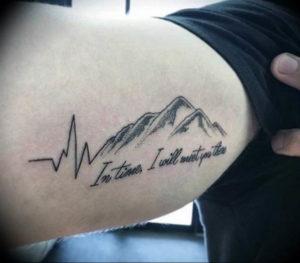 Фото тату горы на руке 23.07.2019 №020 - mountain tattoo on hand - tattoo-photo.ru