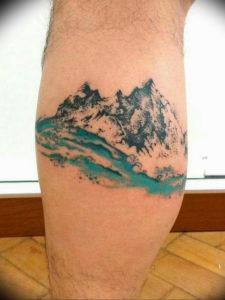 Фото тату море и горы 23.07.2019 №011 - mountain sea tattoo - tattoo-photo.ru