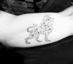 Фото тату созвездие на руке 12.07.2019 №026 - tattoo constellation on arm - tattoo-photo.ru