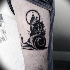 Фото тату улитка 28.07.2019 №161 - snail tattoo - tattoo-photo.ru