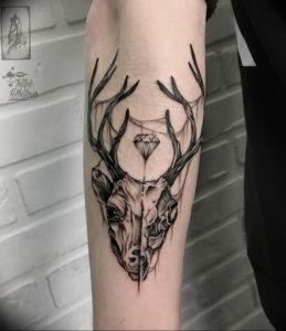 Фото тату череп козла 28.07.2019 №164 - goat skull tattoo - tattoo-photo.ru