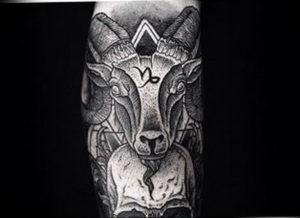 Фото тату череп козла 28.07.2019 №197 - goat skull tattoo - tattoo-photo.ru