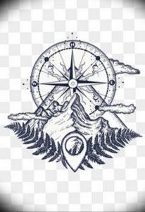 Фото эскиз тату горы 23.07.2019 №027 - sketch of a mountain tattoo - tattoo-photo.ru