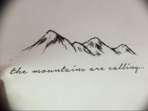 Фото эскиз тату горы 23.07.2019 №032 - sketch of a mountain tattoo - tattoo-photo.ru