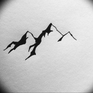 Фото эскиз тату горы 23.07.2019 №033 - sketch of a mountain tattoo - tattoo-photo.ru