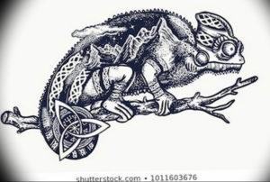Фото эскиз тату горы 23.07.2019 №043 - sketch of a mountain tattoo - tattoo-photo.ru