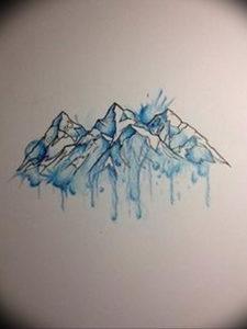 Фото эскиз тату горы 23.07.2019 №044 - sketch of a mountain tattoo - tattoo-photo.ru