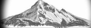 Фото эскиз тату горы 23.07.2019 №046 - sketch of a mountain tattoo - tattoo-photo.ru