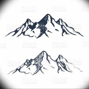 Фото эскиз тату горы 23.07.2019 №049 - sketch of a mountain tattoo - tattoo-photo.ru