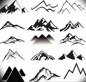 Фото эскиз тату горы 23.07.2019 №053 - sketch of a mountain tattoo - tattoo-photo.ru