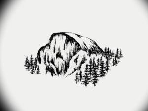 Фото эскиз тату горы 23.07.2019 №054 - sketch of a mountain tattoo - tattoo-photo.ru