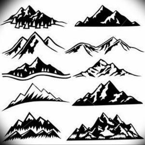 Фото эскиз тату горы 23.07.2019 №056 - sketch of a mountain tattoo - tattoo-photo.ru