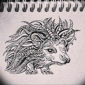Photo ежик тату эскиз 31.07.2019 №009 - hedgehog tattoo sketch - tattoo-photo.ru