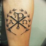 Фото альфа и омега тату 13.08.2019 №004 - alpha and omega tattoo - tattoo-photo.ru
