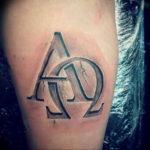 Фото альфа и омега тату 13.08.2019 №007 - alpha and omega tattoo - tattoo-photo.ru