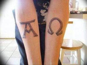 Фото альфа и омега тату 13.08.2019 №024 - alpha and omega tattoo - tattoo-photo.ru