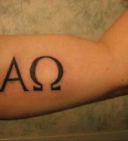 Фото альфа и омега тату 13.08.2019 №050 — alpha and omega tattoo — tattoo-photo.ru