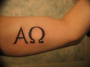 Фото альфа и омега тату 13.08.2019 №050 - alpha and omega tattoo - tattoo-photo.ru