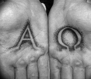 Фото альфа и омега тату 13.08.2019 №051 - alpha and omega tattoo - tattoo-photo.ru