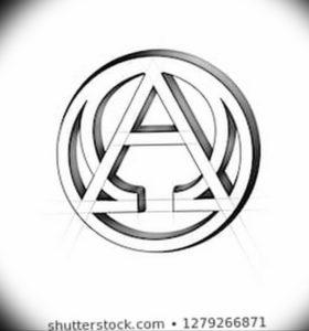 Фото альфа и омега тату 13.08.2019 №065 - alpha and omega tattoo - tattoo-photo.ru