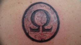 Фото омега тату 13.08.2019 №038 - omega tattoo - tattoo-photo.ru