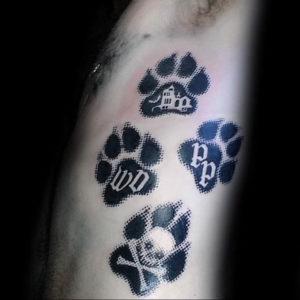 Фото тату лапка собаки 12.08.2019 №008 - dog paw tattoo - tattoo-photo.ru