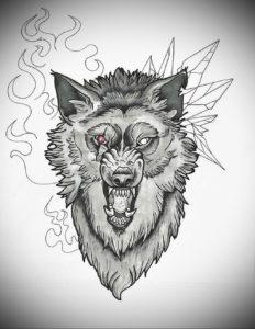 Фото волк тату эскиз 13.09.2019 №015 - wolf tattoo sketch - tattoo-photo.ru