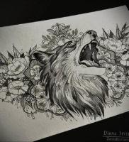 Фото волк тату эскиз 13.09.2019 №031 — wolf tattoo sketch — tattoo-photo.ru