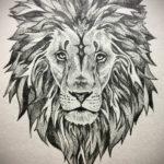 Фото лев тату эскиз 13.09.2019 №004 - lion tattoo sketch - tattoo-photo.ru