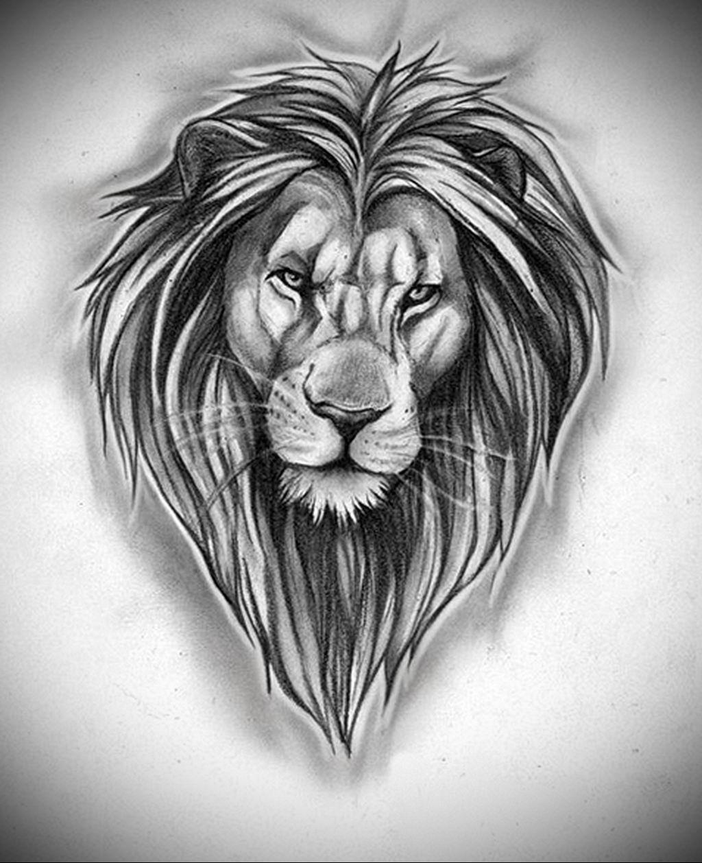 Картинка льва тату