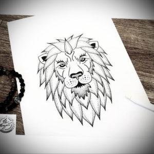 Фото лев тату эскиз 13.09.2019 №037 - lion tattoo sketch - tattoo-photo.ru