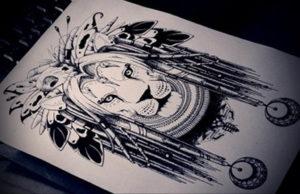 Фото лев тату эскиз 13.09.2019 №039 - lion tattoo sketch - tattoo-photo.ru