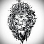 Фото лев тату эскиз 13.09.2019 №041 - lion tattoo sketch - tattoo-photo.ru