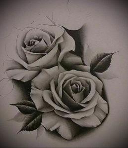 Фото роза тату эскиз 13.09.2019 №002 - rose tattoo sketch - tattoo-photo.ru
