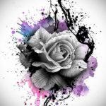 Фото роза тату эскиз 13.09.2019 №007 - rose tattoo sketch - tattoo-photo.ru