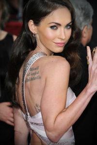 Фото тату Меган Фокс 23.09.2019 №002 - Megan Fox Tattoos - tattoo-photo.ru