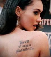 Фото тату Меган Фокс 23.09.2019 №011 — Megan Fox Tattoos — tattoo-photo.ru