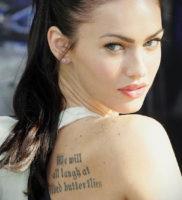 Фото тату Меган Фокс 23.09.2019 №015 — Megan Fox Tattoos — tattoo-photo.ru