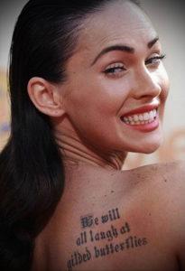 Фото тату Меган Фокс 23.09.2019 №058 - Megan Fox Tattoos - tattoo-photo.ru