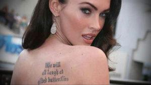 Фото тату Меган Фокс 23.09.2019 №067 - Megan Fox Tattoos - tattoo-photo.ru