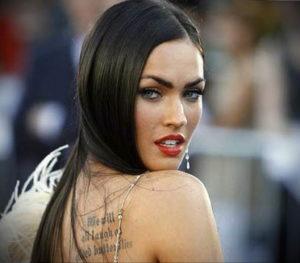 Фото тату Меган Фокс 23.09.2019 №092 - Megan Fox Tattoos - tattoo-photo.ru