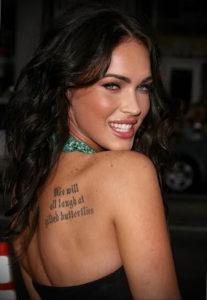 Фото тату Меган Фокс 23.09.2019 №100 - Megan Fox Tattoos - tattoo-photo.ru