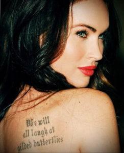 Фото тату Меган Фокс 23.09.2019 №102 - Megan Fox Tattoos - tattoo-photo.ru