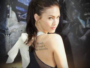 Фото тату Меган Фокс 23.09.2019 №109 - Megan Fox Tattoos - tattoo-photo.ru