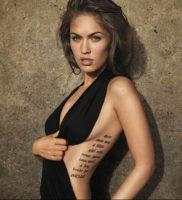 Фото тату Меган Фокс 23.09.2019 №123 — Megan Fox Tattoos — tattoo-photo.ru